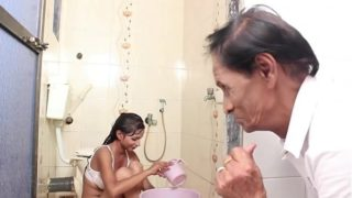 Hot b. Bathing and sex with Father in law